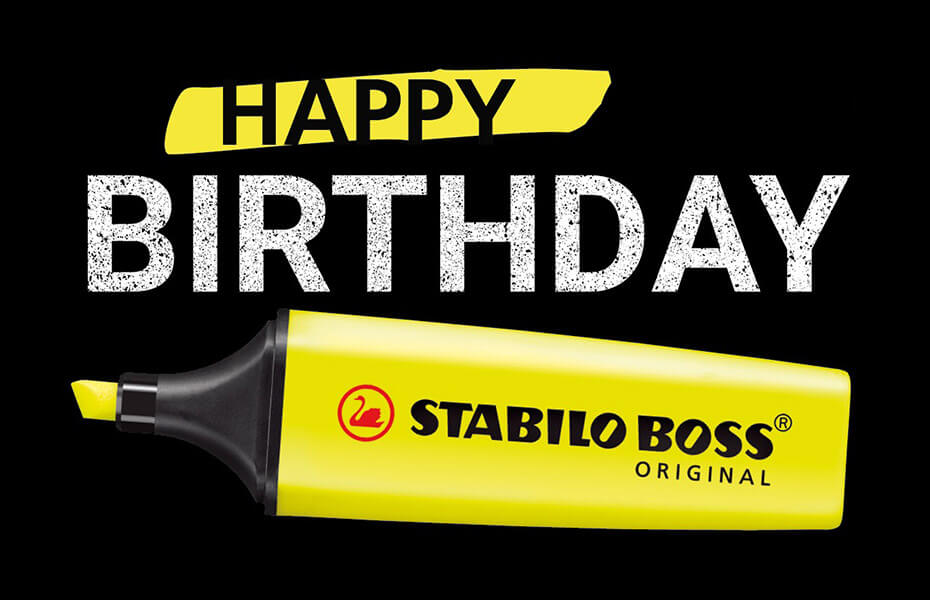 Happy Birthday STABILO BOSS !