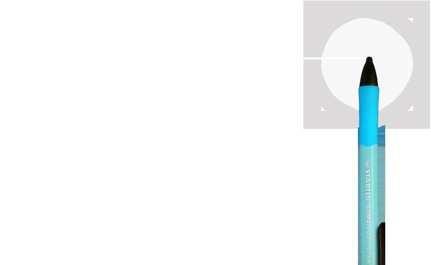 Lapiseira ergonômica Grip emborrachado Grafite 0.7mm Corpo triangular Clip no corpo Duas opções de cor