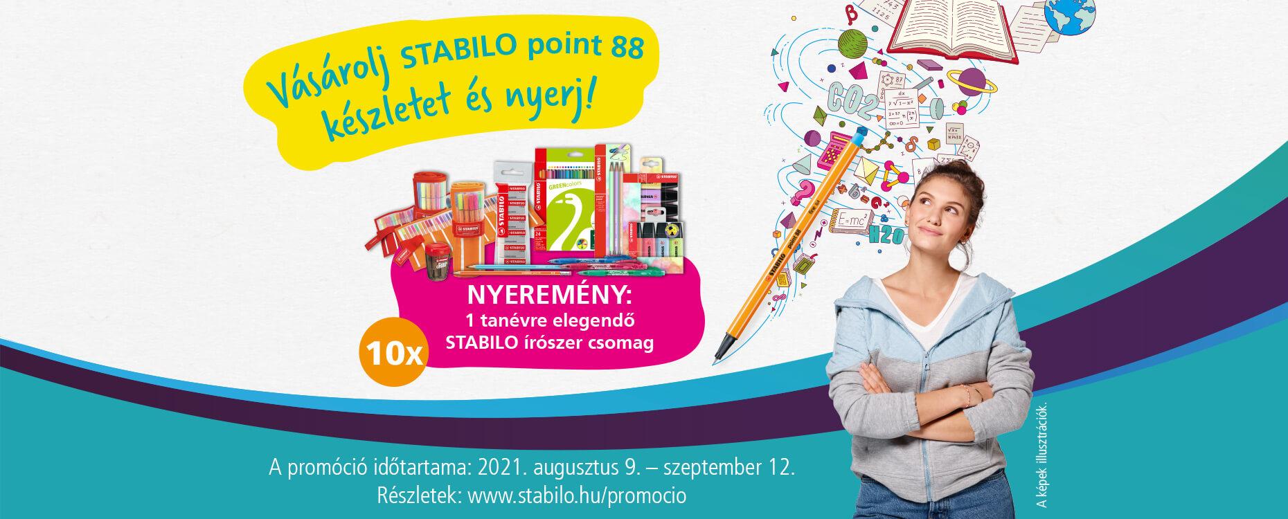 STABILO point 88 nyereményjáték 2021