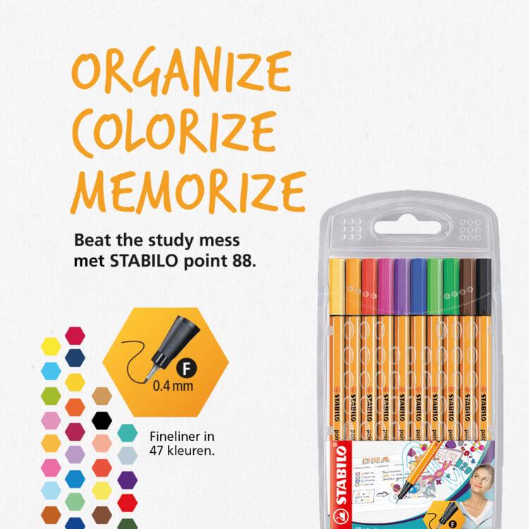 STABILO point 88: Organize - Colorize - Memorize