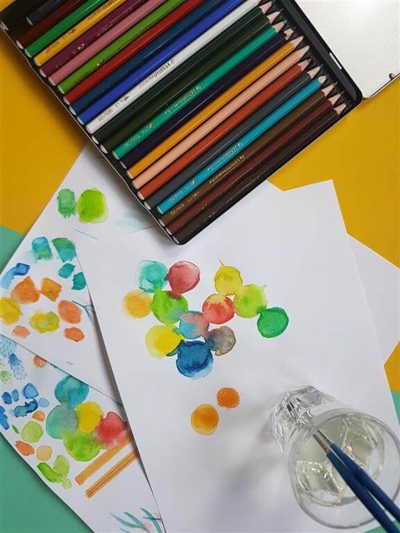 Kleurrijke blobs making off 2