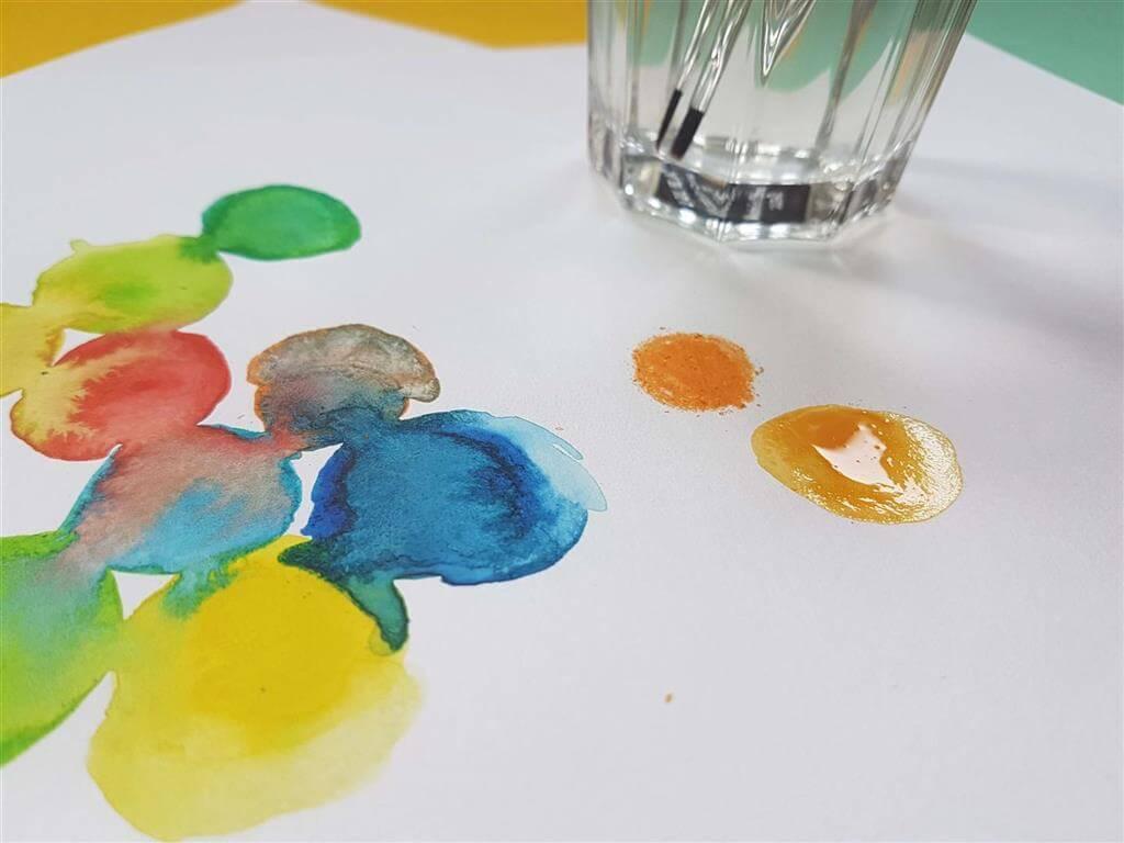 Kleurrijke blobs making off 1